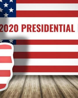 promo sign for 2020 presidential election