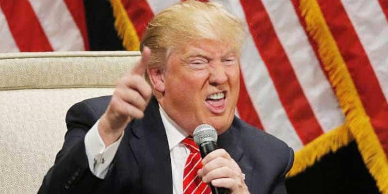 Donald Trump making faces