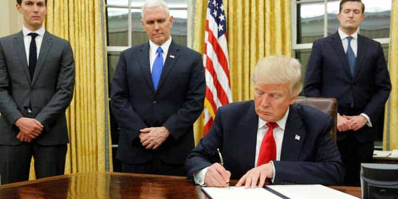Trump signs bill as other look on