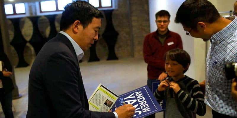 Andrew Yang signing