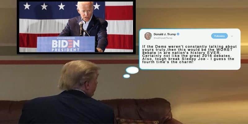 Trump watching debate