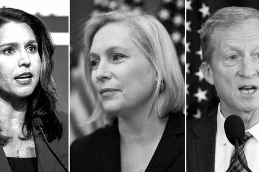 Democratic candidates on the edge