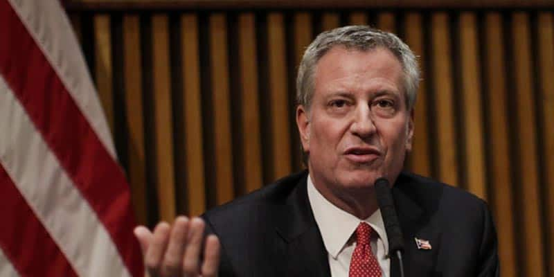 Bill de Blasio drops