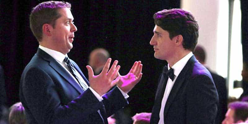 justin trudeau andrew scheer canada election
