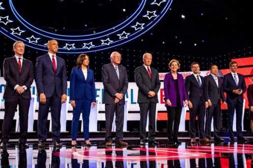 democrats line up for debate