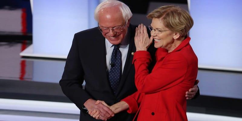 Sanders Warren lead NH