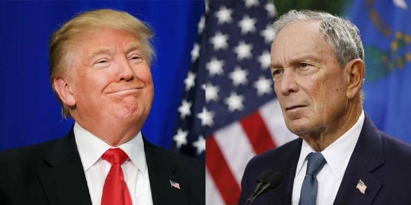 donald trump michael bloomberg twitter