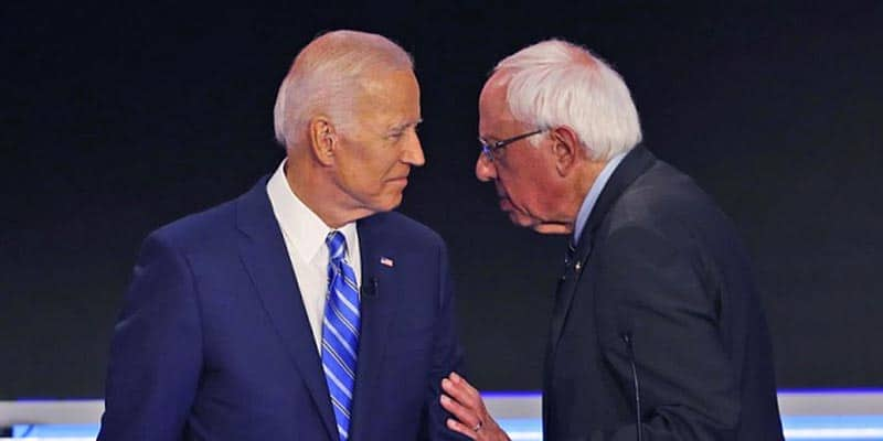 Joe Biden Bernie Sanders odds polls favorites