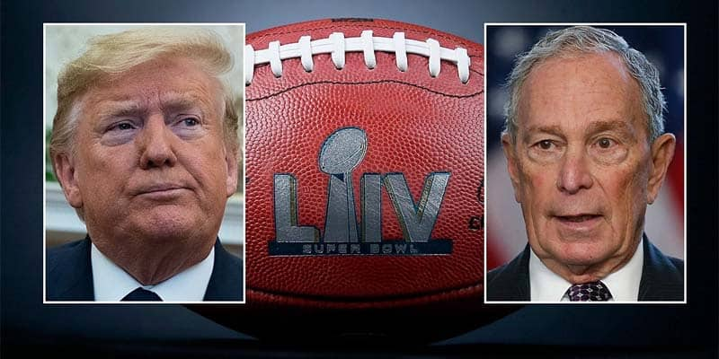 Trump Bloomberg Super Bowl Ads