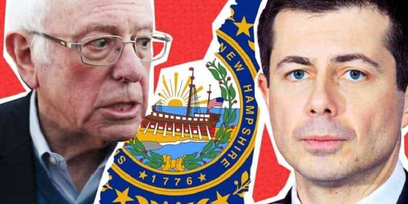 bernie buttigieg new hampshire democratic primary odds