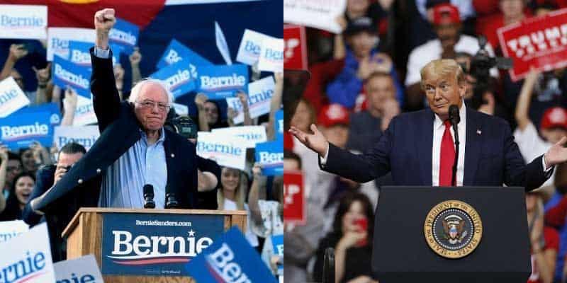 bernie vs trump rally