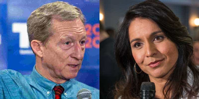 steyer gabbard drop out odds
