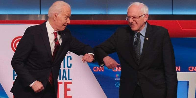 biden odds bernie drop out chance