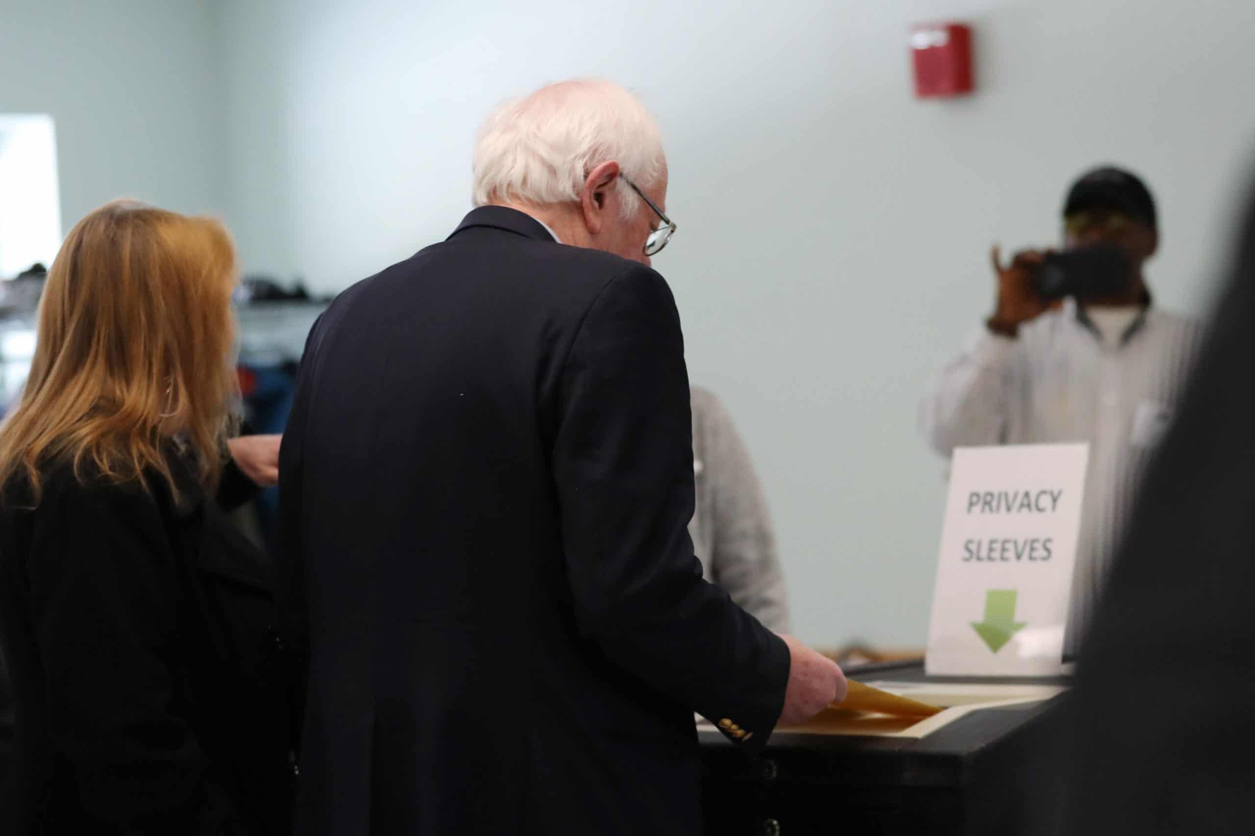 Bernie voting Vermont 2020