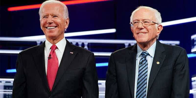 Biden Bernie Super Tuesday Odds