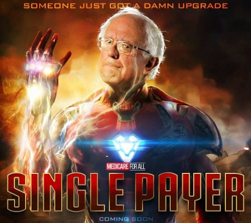 Bernie Sanders Come Back Iron Man Snap 2020