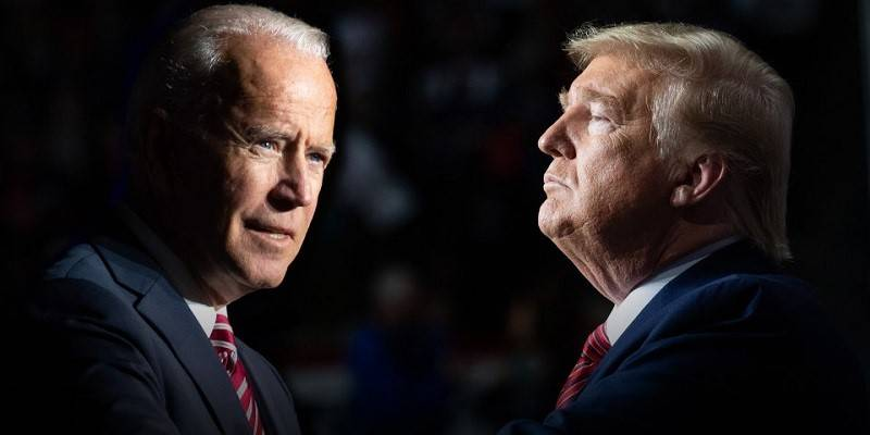 Joe Biden and Donald Trump facing off for the 2020 Presidential Election