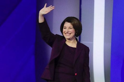Amy Klobuchar waving goodbye