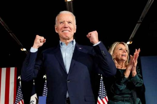 picture of Joe Biden looking confident