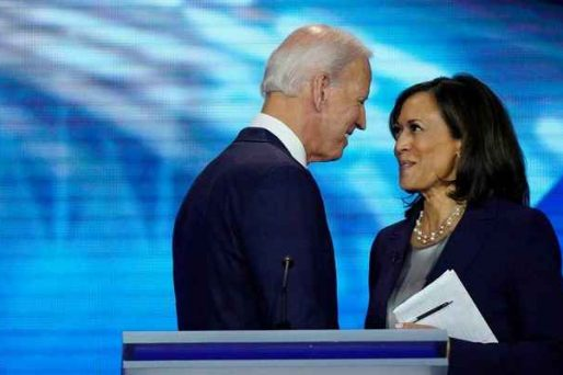 Biden facing Harris closely