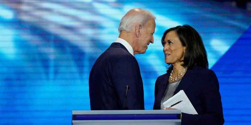 Biden facing Harris closely