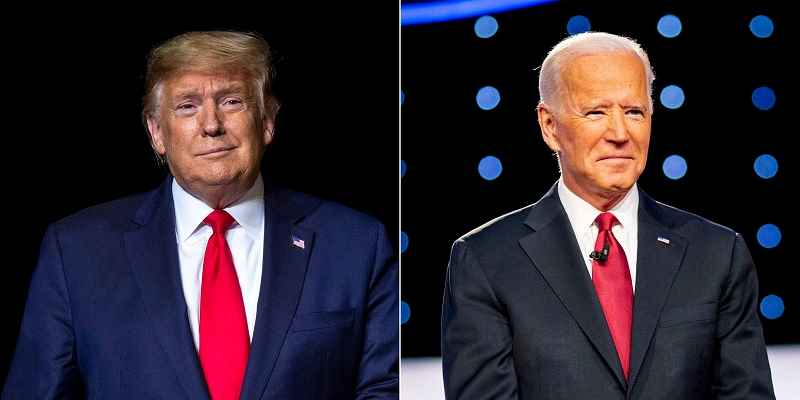 Trump to the left of Biden