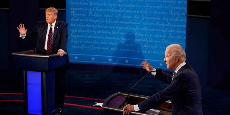 Trump and Biden debating
