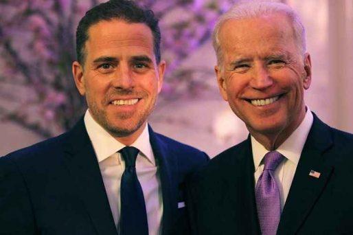 Hunter and Joe Biden smiling