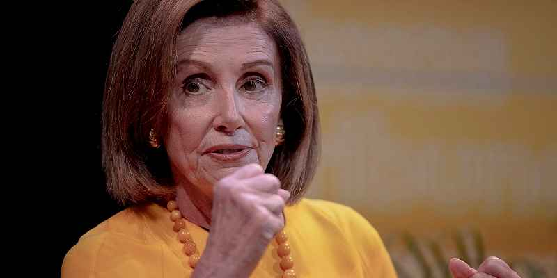 Nancy Pelosi pumping her fist