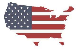 US States outline
