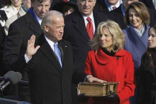 joe biden taking the oath of office