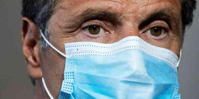 Governor Cuomo wears a COVID-19 mask and ponders his re-election odds