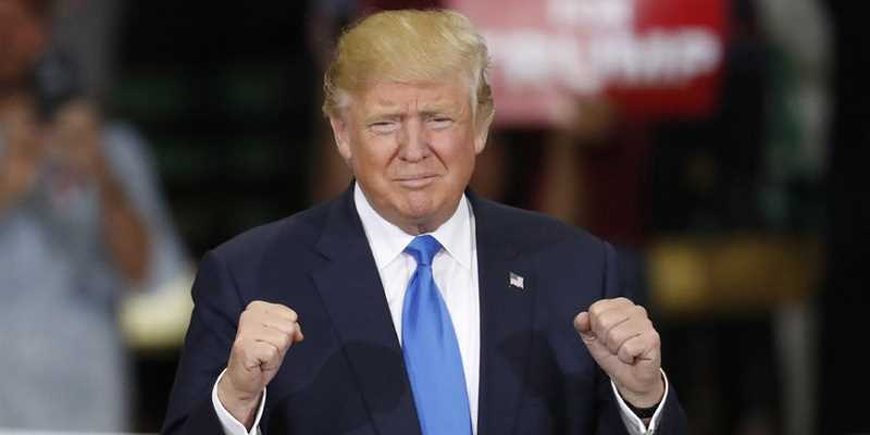 Trump celebrating his second impeachment victory