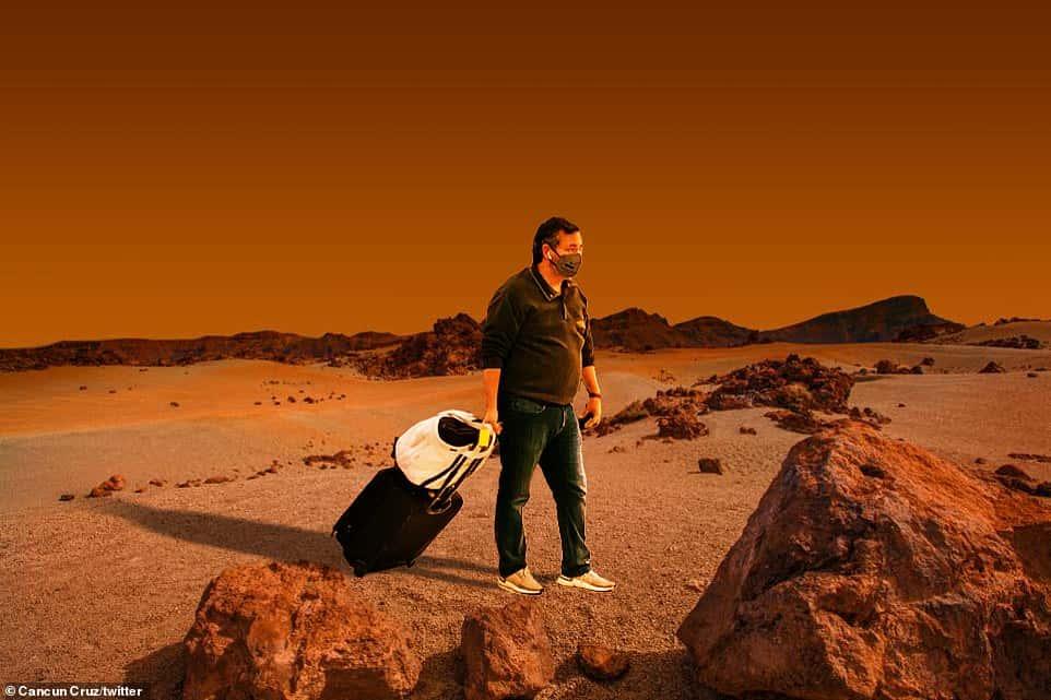 Ted Cruz visits Mars