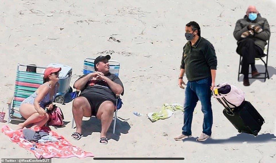 Cruz Bernie Sanders Christie Beach Meme