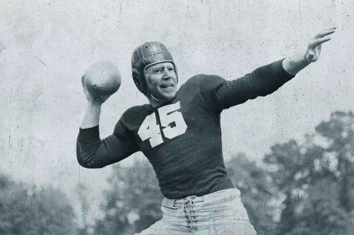 joe biden as an old time football player