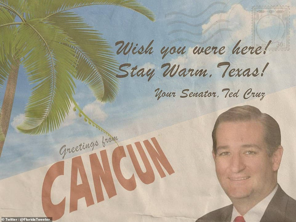 Cancun Ted Cruz Postcard