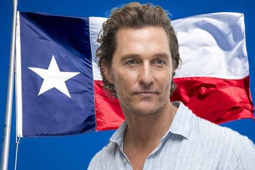 TX Gubernatorial odds for Matthew McConoughey