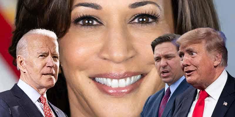 Kamala Harris leads Trump, Biden, DeSantis in 2024 POTUS odds